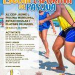 Nules organiza una Escola Esportiva de Pasqua para niños de 7 a 12 años