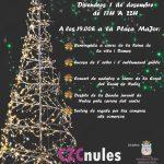Nules dará la bienvenida a la Navidad con el encendido de las luces del árbol y del alumbrado decorativo