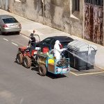 Nules retoma las tareas de desinfección con tractores