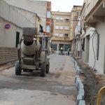 Les obres de remodelació dels carrers de l'Assutzena i d'Isaac Peral es desenvolupen al ritme previst