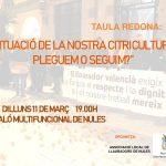 Nules organiza un debate abierto sobre la crisis citrícola